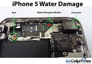 iPhone 5 Water Damaged